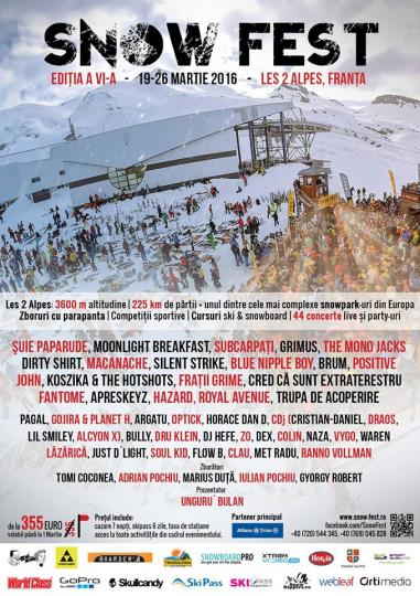 Our artists will play @ Snow Fest 2015 in France